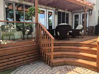 Staining your wood deck
